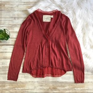 Anthropologie Angel of the North Aral Cardigan